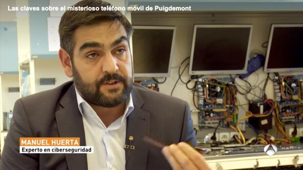 El experto en ciberseguridad, Manuel Huerta, explica las claves sobre el misterioso teléfono de Puigdemont